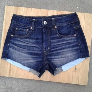 American Eagle 2 Hi rise festival jean shorts EUC